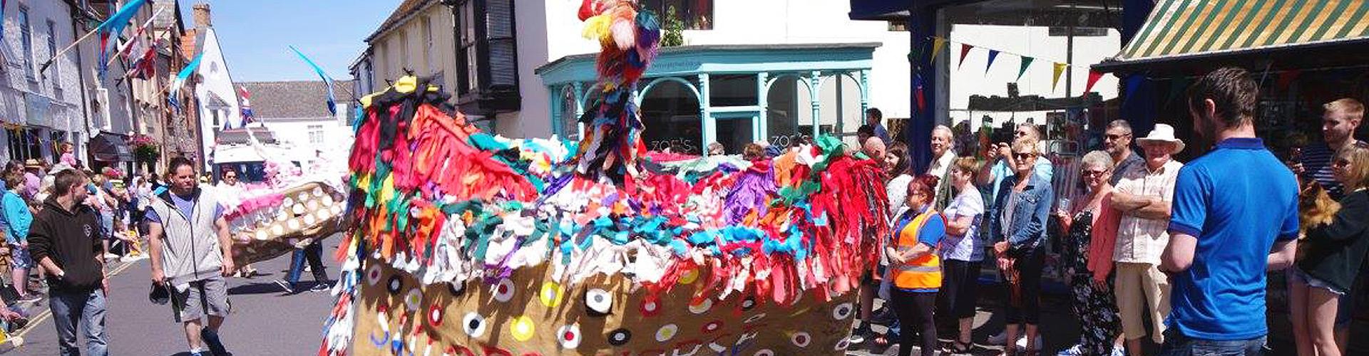 Watchet Carnival Parade Hobby Horse